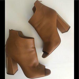 Calvin Klein Lulah Cervo Peep Toe Booties